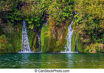 Several picturesque waterfalls