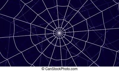 several webs move against a blue background - several webs...