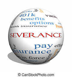 Severance 3D sphere Word Cloud Concept