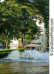 Severe flood in Bangkok, Thailand
