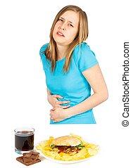 Severe Gastric Ulcer - Severe gastric ulcer caused by...