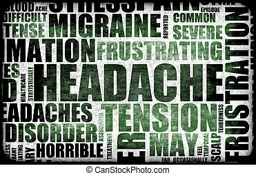 Headache - Severe Headache Medical Condition as a Background