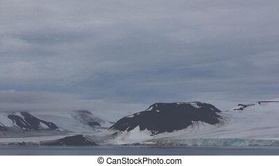 Severe high Arctic latitudes. Franz-Josef Land. Ziegler...