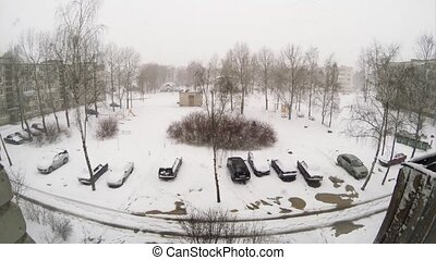 Severe weather of April in Begunitsy Volosovskiy district...