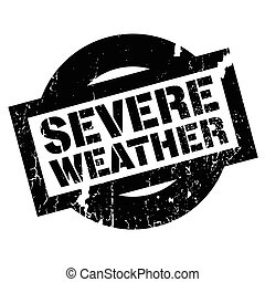 Severe Weather rubber stamp. Grunge design with dust...