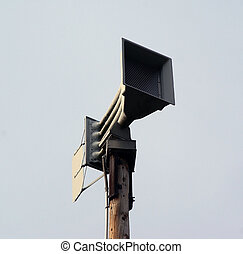 severe weather siren - Front of a severe weather warning...