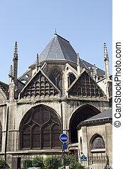 severin, latim, eglise, frança paris, histórico, arquitetura, são, igreja, quarto