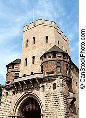 Severinstor (city gate Severin) in Cologne. Built during the...