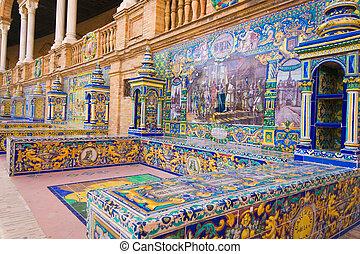 sevilla, プラザ, espana, de, 有名, スペイン