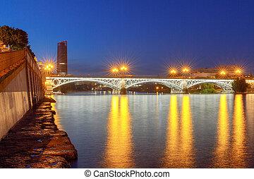 Sevilla. Bridge of Isabel II. - Isabella II bridge over the...