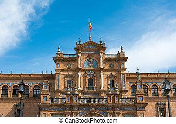 sevilla, españa, plaza de espana
