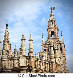 Sevilla in Andalusia, Spain. Famous cathedral. UNESCO World ...