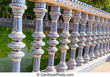 sevilla, náměstí, espana, k, slavný, španělsko