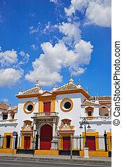 Sevilla, place,  maestranza, arène,  Séville,  Toros