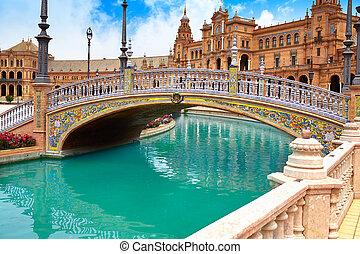 sevilla, stadsplein, de, seville, andalusia, espana, spanje