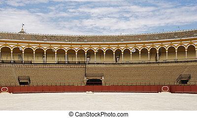Seville bullring - Plaza de toros de la real maestranza in...