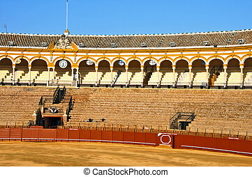 Seville bullring - View of the arena of Real Maestranza de...