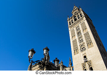 Seville Cathedral with the Giralda Tower in Seville