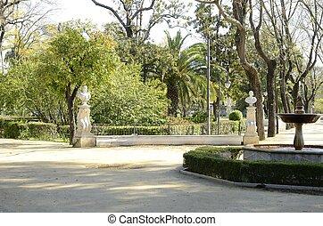 seville, fontein tuin