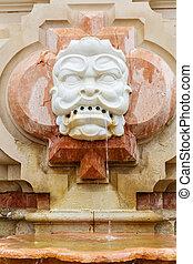 seville, fontijn, detail, architecturaal, spanje