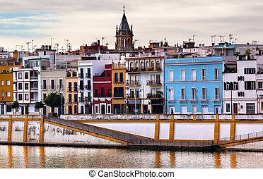 seville, peter, andalusia, guadalquivr, kirke, flod, helgen...