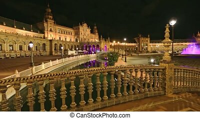 Seville Plaza de Espana - Central Renaissance building of ...