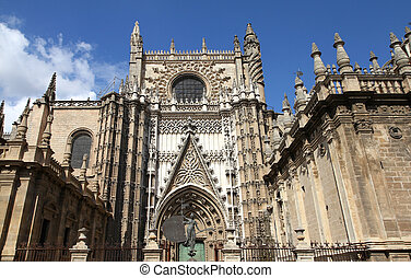 Seville - Sevilla in Andalusia, Spain. Famous cathedral. ...