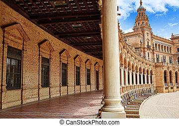 Seville Sevilla Plaza de Espana Andalusia Spain