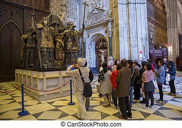 Seville - SEVILLE, SPAIN - MARCH 16: Unidentified Japanese ...
