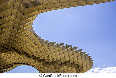 Metropol Parasol in Plaza de la Encarnacion on 31 of May...