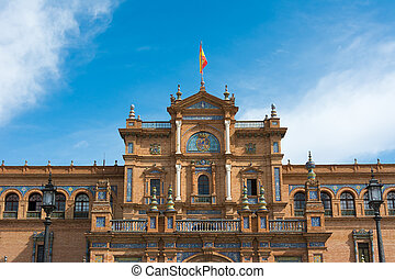 Seville Spain Plaza de Espana - Plaza de Espana in the...