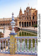 Seville Spain Square - Spain, Seville. Spain Square, a ...