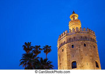 Seville torre del Oro sunset Sevilla Andalusia - Seville ...