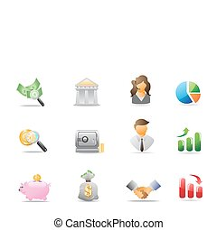 bank icons - sevral bank icons for design