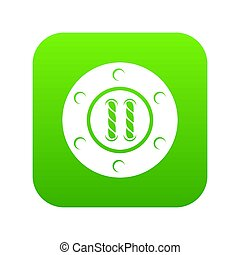 Sew button icon green