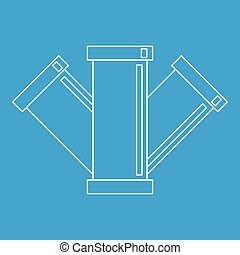 Sewage pipe icon, outline style