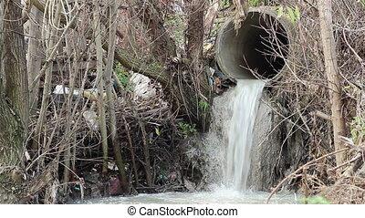 Sewage Polluting Pipe