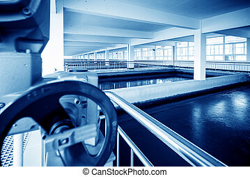 Sewage treatment plant - Modern interior landscape of urban ...