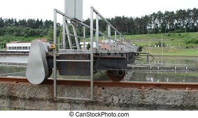 sewage water basin clean - sewage water treatment basins...