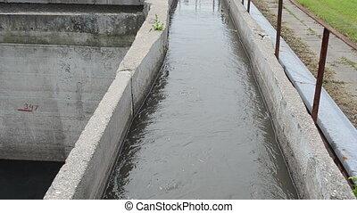 sewage water clean basin - Rusty sewage water treatment...