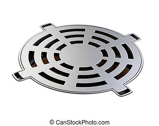 Sewer hatch with closed lid manhole hole cover.