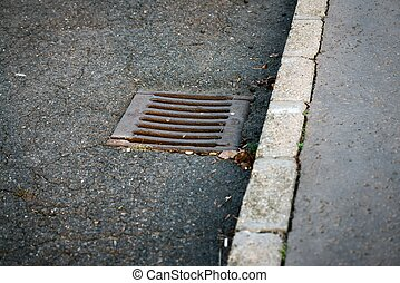 Sewer on the road