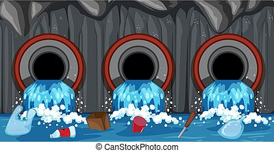 Sewer Pipe System From Household