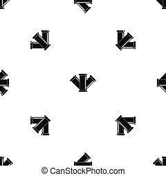 Sewerage pattern seamless black - Sewerage pattern repeat...