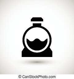Sewerage tank icon isolated on grey. Vector illustration