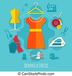 Sewing A Dress Concept