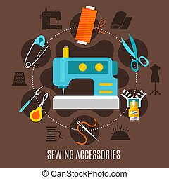 Sewing Accessories Concept