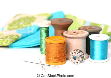 Sewing and Quilting Thread On White - Sewing and Quilting...