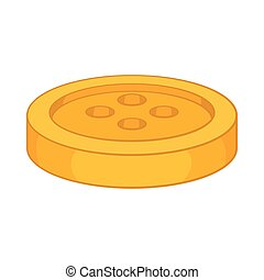 Sewing button icon, cartoon style