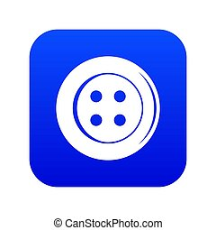 Sewing button icon digital blue
